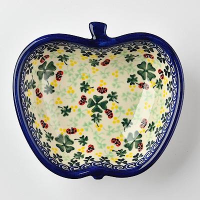 【波蘭陶 Vena】波蘭陶 幸運符號系列 蘋果造型烤盤 波蘭手工製