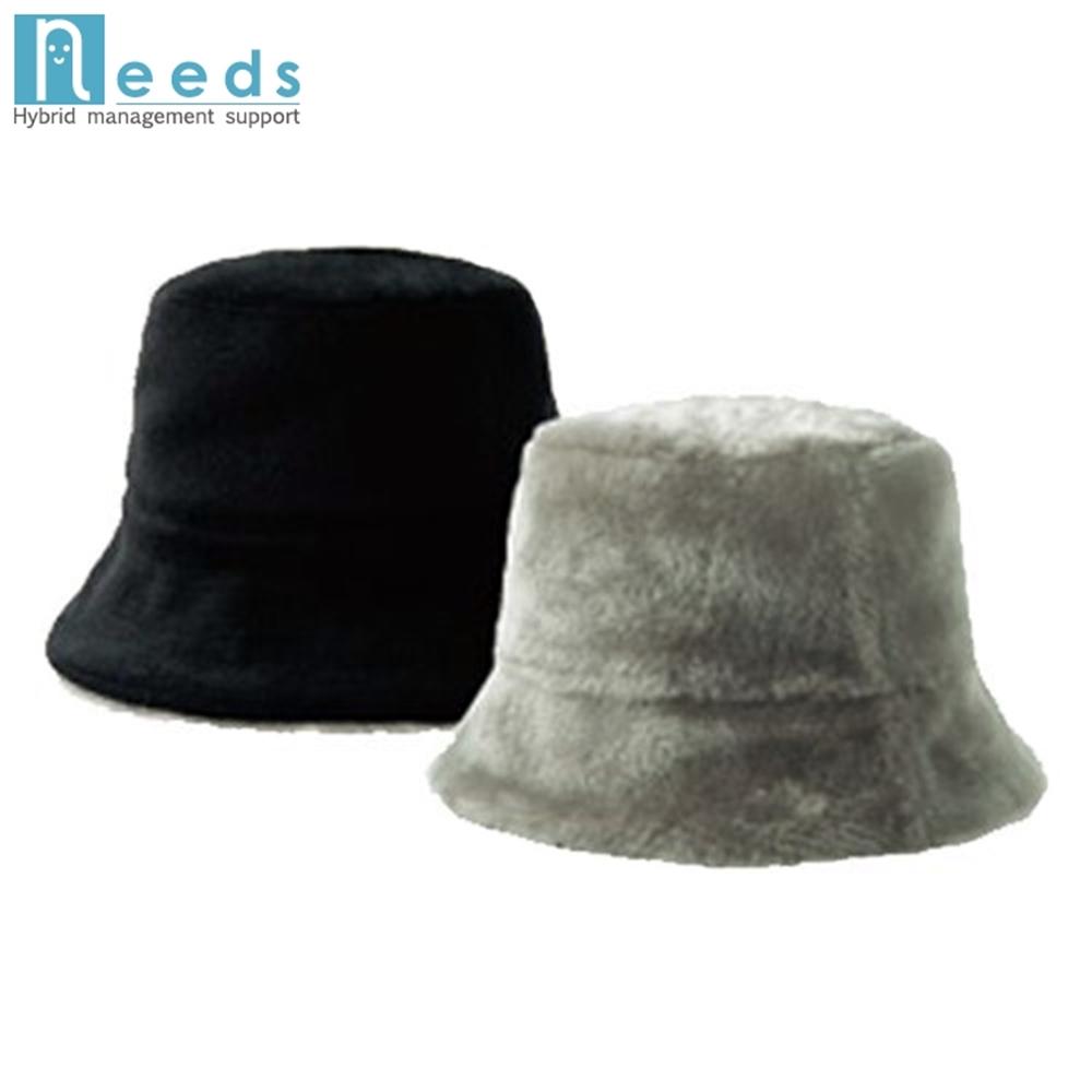 日本NEEDS好收納雙面戴羊毛絨毛保暖帽(74140(米/咖)/74553(黑/灰))