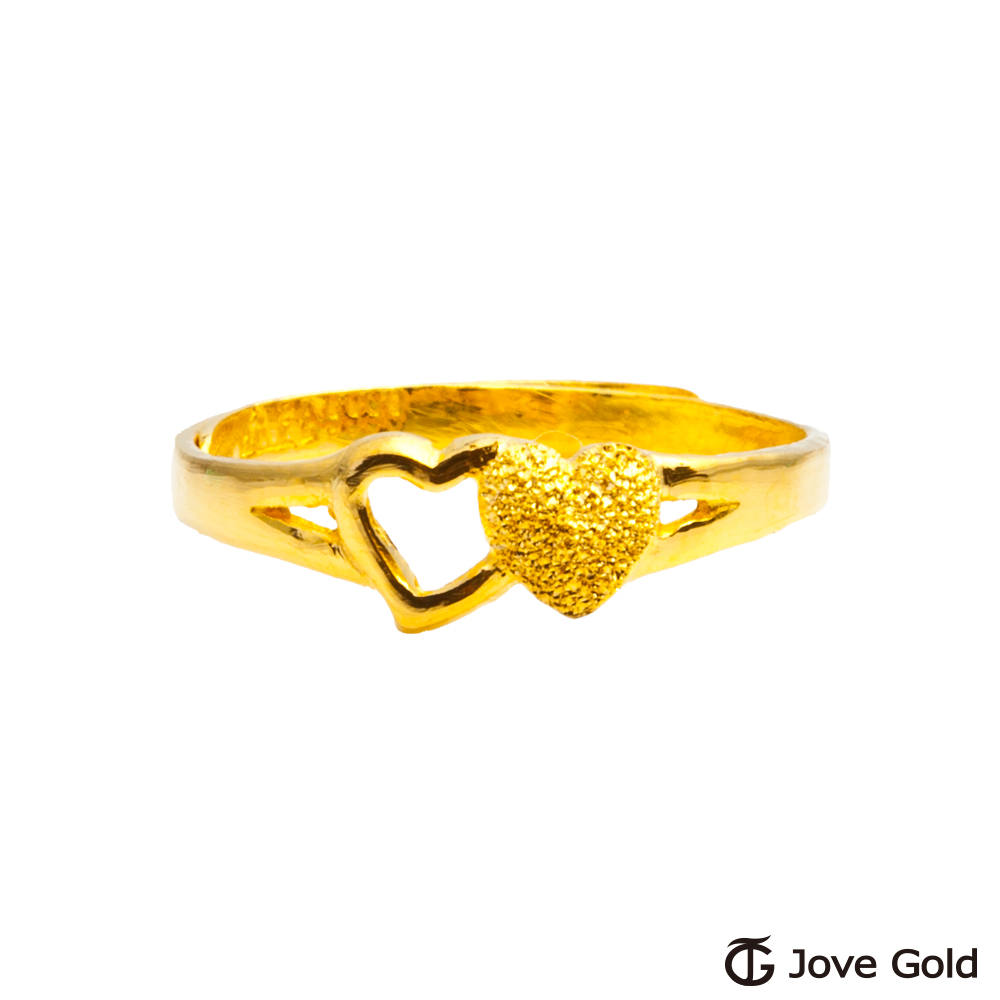 Jove gold 心心相印黃金戒指