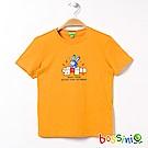 bossini男童-印花短袖T恤01芒果黃