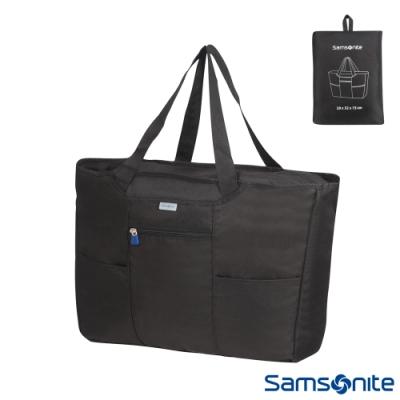 Samsonite新秀麗 可摺疊式購物袋(黑)