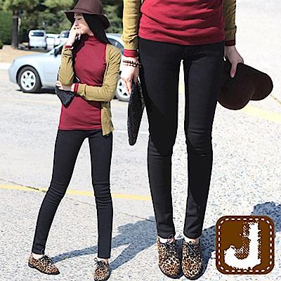 正韓 素面黑顯瘦貼腿窄管褲-(黑色)100%Korea Jeans