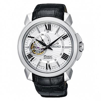 SEIKO 精工Premier開芯羅馬機械腕錶4R39-00S0P SSA373J1