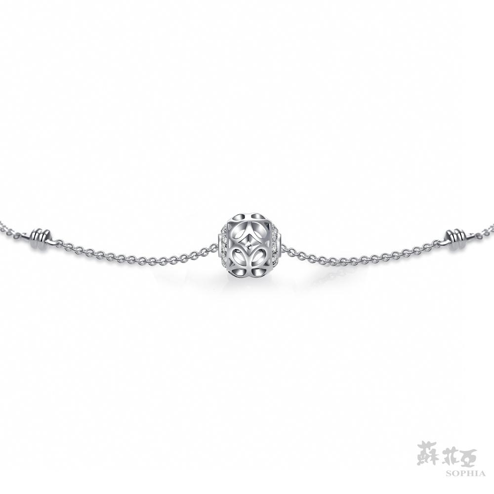 SOPHIA 蘇菲亞珠寶 - 寶藏之心 18K白金 鑽石手鍊