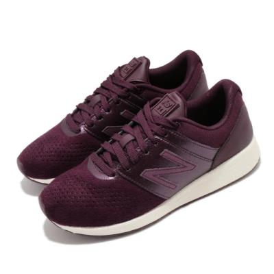 New Balance 休閒鞋 24 Wide 寬楦 運動 女鞋 紐巴倫 基本款 簡約 舒適 穿搭 紫 紅 WRL24TMD
