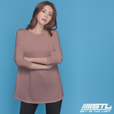 STL yoga ESSENCE HipCover loosefit LS 韓國瑜珈 運動機能 本質蓋臀長版寬鬆長袖上衣 乾燥玫瑰 RomanticRose