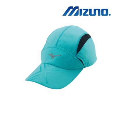 MIZUNO 美津濃 運動路跑帽 藍綠 J2TW950135P