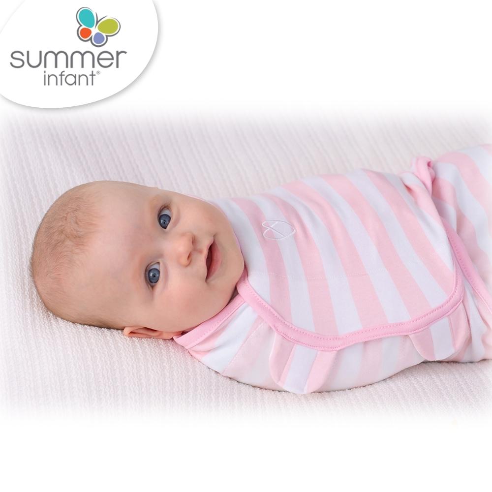 美國 Summer Infant 聰明懶人育兒包巾-粉嫩條紋