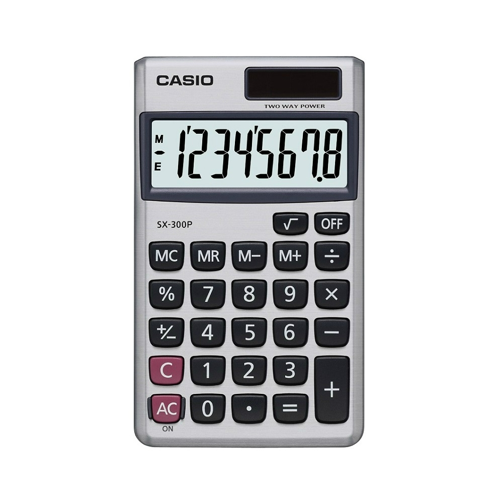 CASIO卡西歐-8位數攜帶式商用計算機(SX-300P)