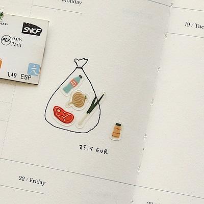 Dailylike 日日美好裝飾透明貼紙-38市場