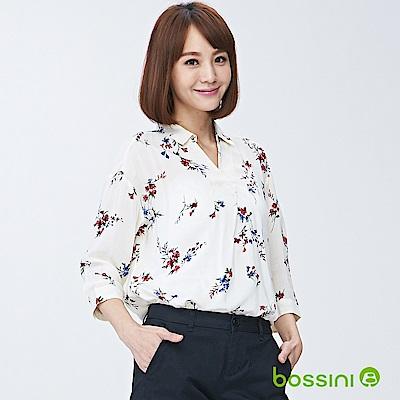 bossini女裝-印花七分袖襯衫01深褐