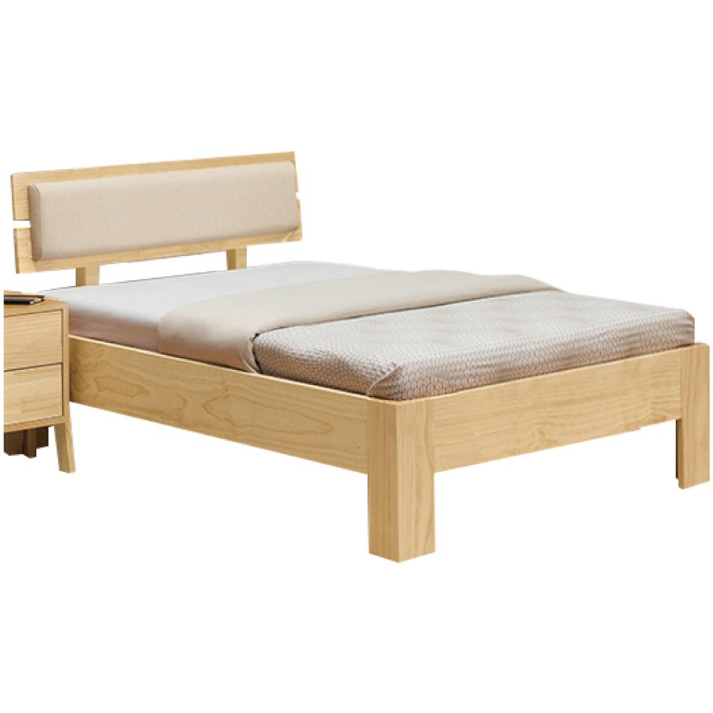 綠活居 毛利斯時尚3.5尺實木單人床台(不含床墊)-113x196x82cm免組