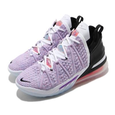 Nike 籃球鞋 LeBron XVIII EP 運動 男鞋 氣墊 避震 包覆 LBJ 明星款 球鞋 紫 白 CQ9284900