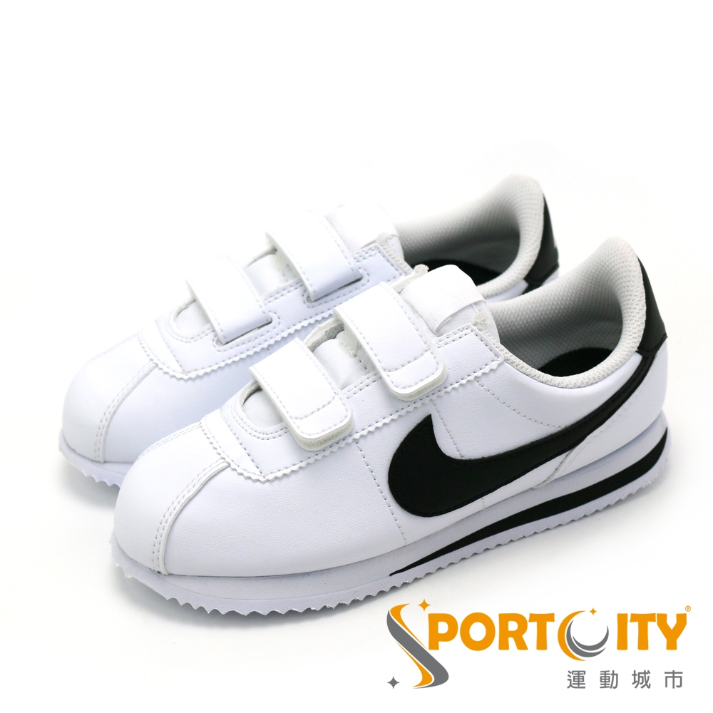 NIKE 中大童休閒鞋-904767102 白/黑