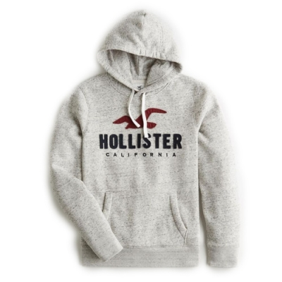 Hollister HCO 男 帽T 灰色 1460