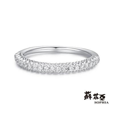 SOPHIA 蘇菲亞珠寶 - 女王桂冠鑽石戒指 18K白K金 鑽石戒指