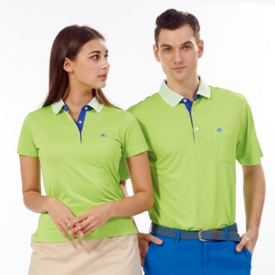 Abel Fox s Sports綠色線條領女版短袖POLO衫-WER606-04