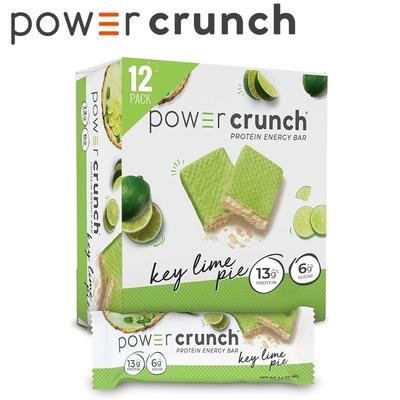 【美國 Power Crunch】Original 乳清蛋白能量棒 Key Lime Pie(萊姆派(酸橙派)/12x40g/盒)