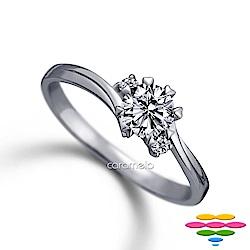 彩糖 GIA 30分鑽石 E/SI2 3EX 愛心八爪鑽戒 求婚戒