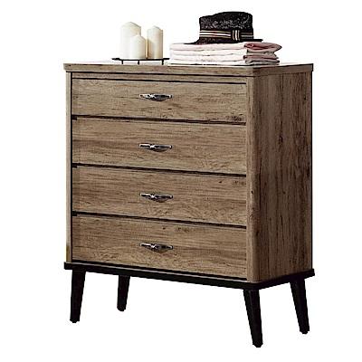 綠活居 波利時尚2.6尺木紋四斗櫃/收納櫃-79x42x102cm-免組