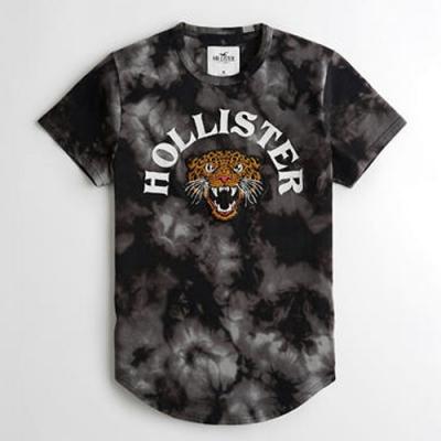Hollister HCO 海鷗 老虎頭刺繡文字 短T(男/黑色S)