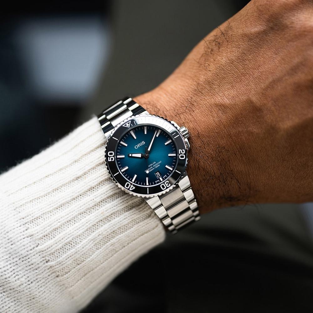 Oris豪利時Aquis時間之海300米潛水錶 0173377324155-0782105PEB-39.5mm