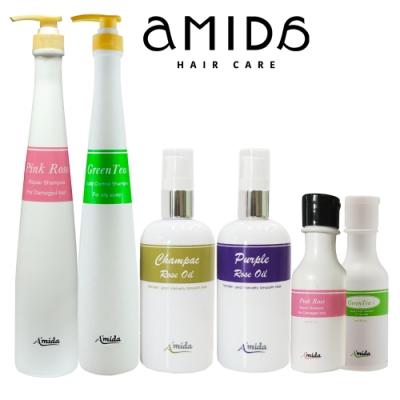 (即期品)Amida植萃系列洗髮髮油四件超值組(1000ml*2+髮油100ml*2+60ml*2)  (效期:2021/12/01)
