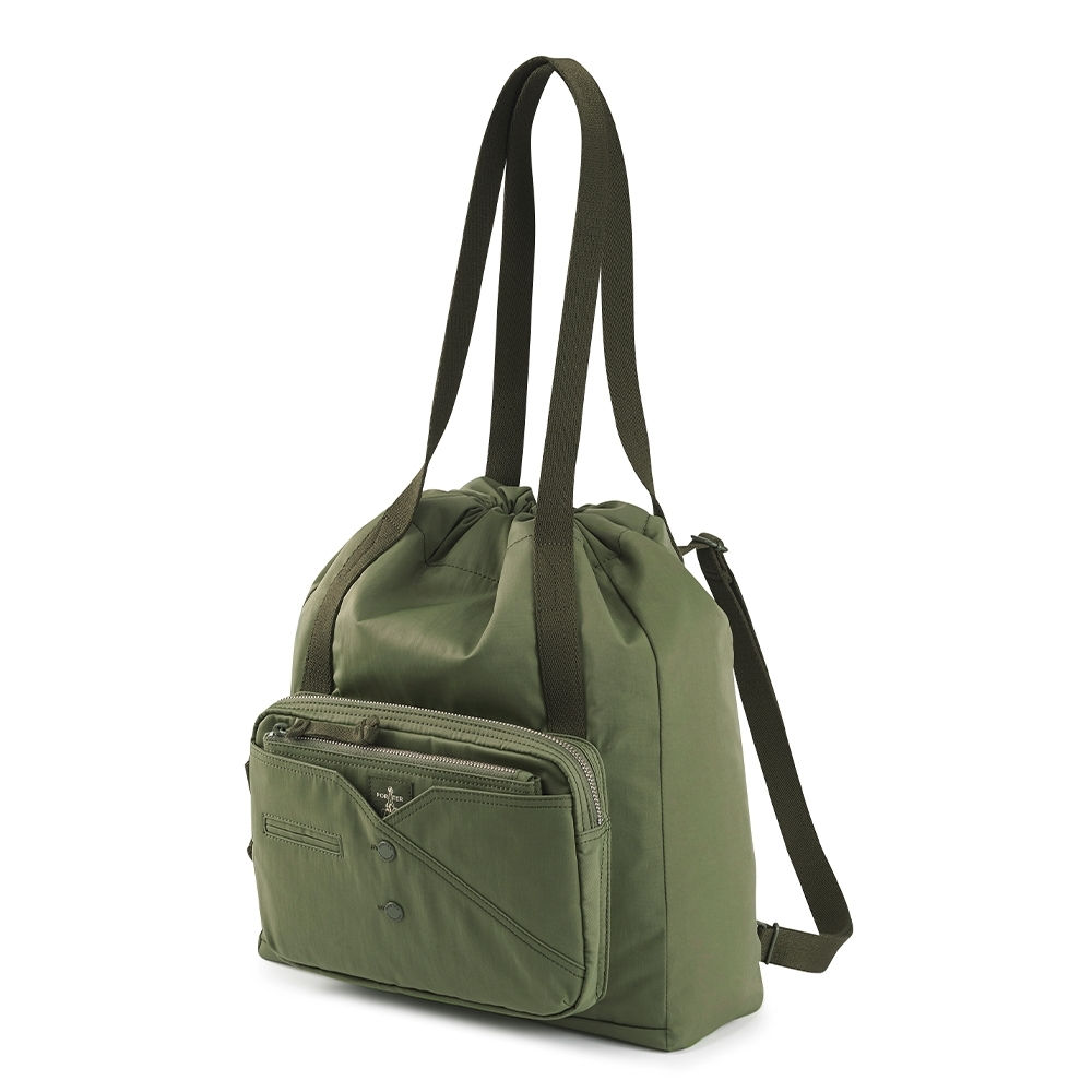 PORTER - 紳士品味CUFF(N)手提後背兩用水桶包 - 綠
