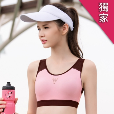獨家激降!華歌爾-專業時尚 BM-BLL 運動內衣(粉)A-B 罩杯無鋼圈背心式