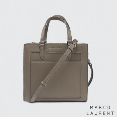 MARCO LAURENT Frame 造型拉鍊手提肩背包 - 卡其灰