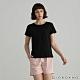 GIORDANO 女裝素色竹節棉T恤 - 19 標誌黑 product thumbnail 1