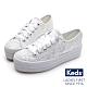 Keds x kate spade TRIPLE UP 婚禮增高厚底緞帶休閒鞋-白色亮片 product thumbnail 1