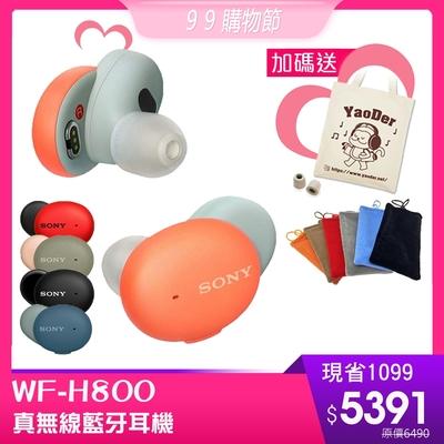 (送絨布套+記憶耳塞+帆布袋)SONY WF-H800 真無線藍牙耳機 16H續航力 5色可選