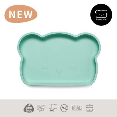 新加坡bopomofo 小熊矽膠吸盤餐具-薄荷綠