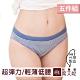 席艾妮SHIANEY 台灣製造 (5件組) 超彈力低腰舒適內褲 青春條紋款 product thumbnail 1