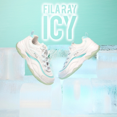 FILA RAY ICY 中性運動鞋-碧波藍 4-C101V-148