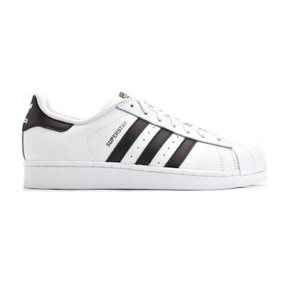 adidas SUPERSTAR 白黑 金標 經典貝殼休閒鞋 C77124