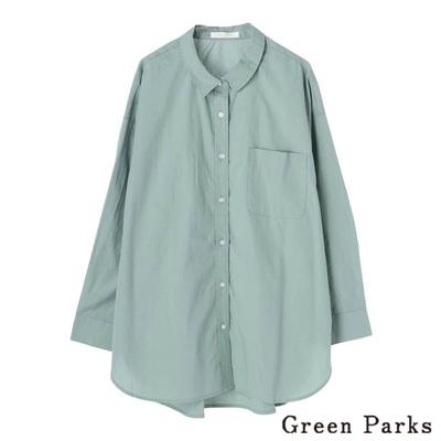 Green Parks 基本棉質長版口袋襯衫上衣