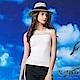 【麥雪爾】水鑽方領蕾絲棉質背心-白 product thumbnail 2