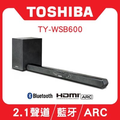 【TOSHIBA】藍牙兩件式 重低音聲霸 無線家庭劇院 TY-WSB600