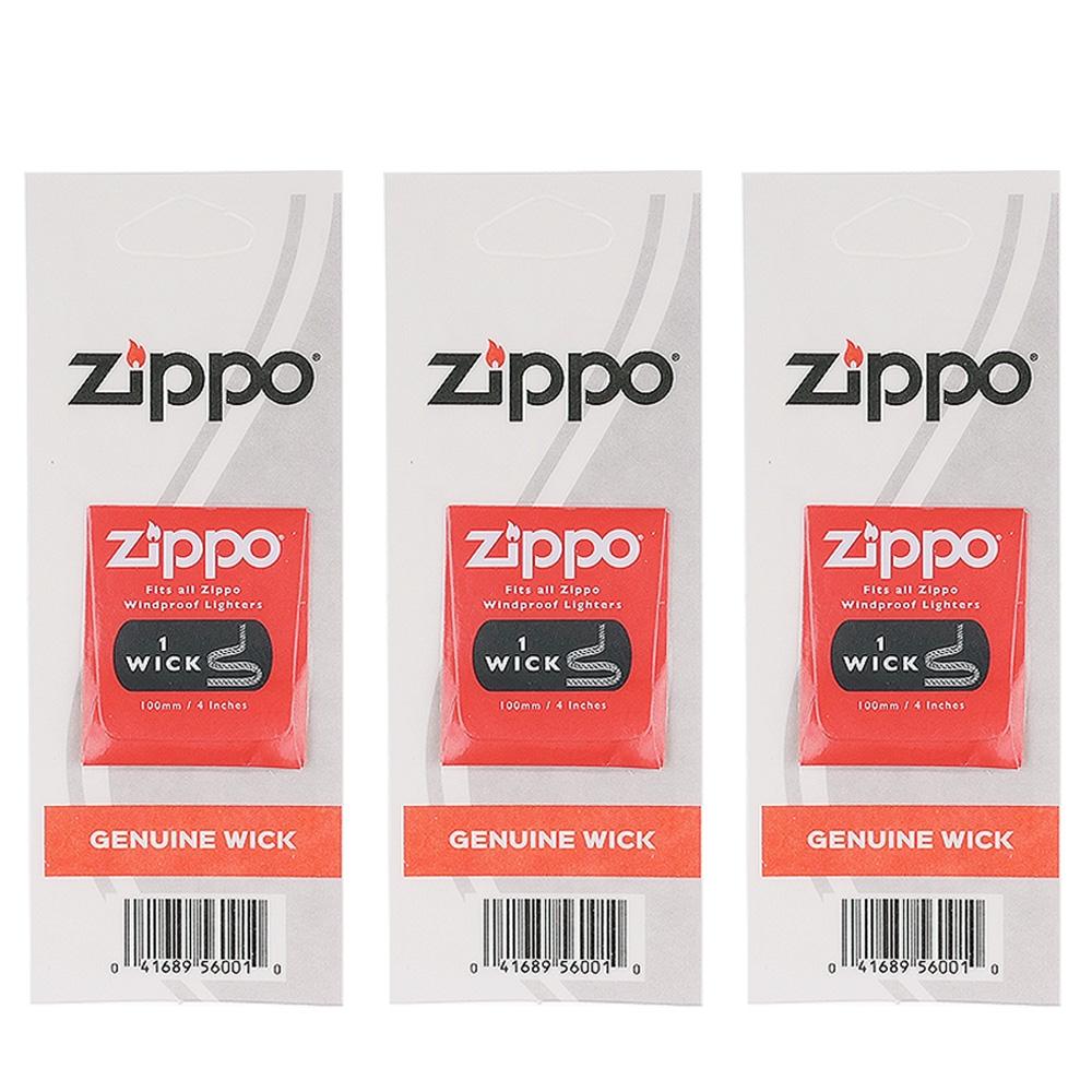 【ZIPPO】原廠棉芯~3組優惠組合(一組一條11.5公分長)