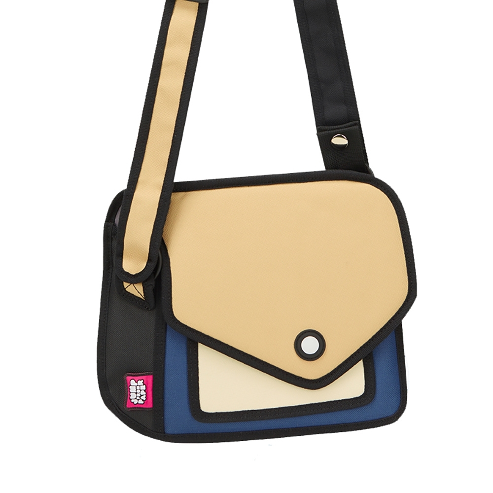 JumpFromPaper 2D包 經典藍色嘻嘻包 肩背包