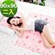 奶油獅-雪花樂園-長效型降6度涼感冰砂冰涼墊/單人床墊90x90cm-粉色(二入) product thumbnail 1