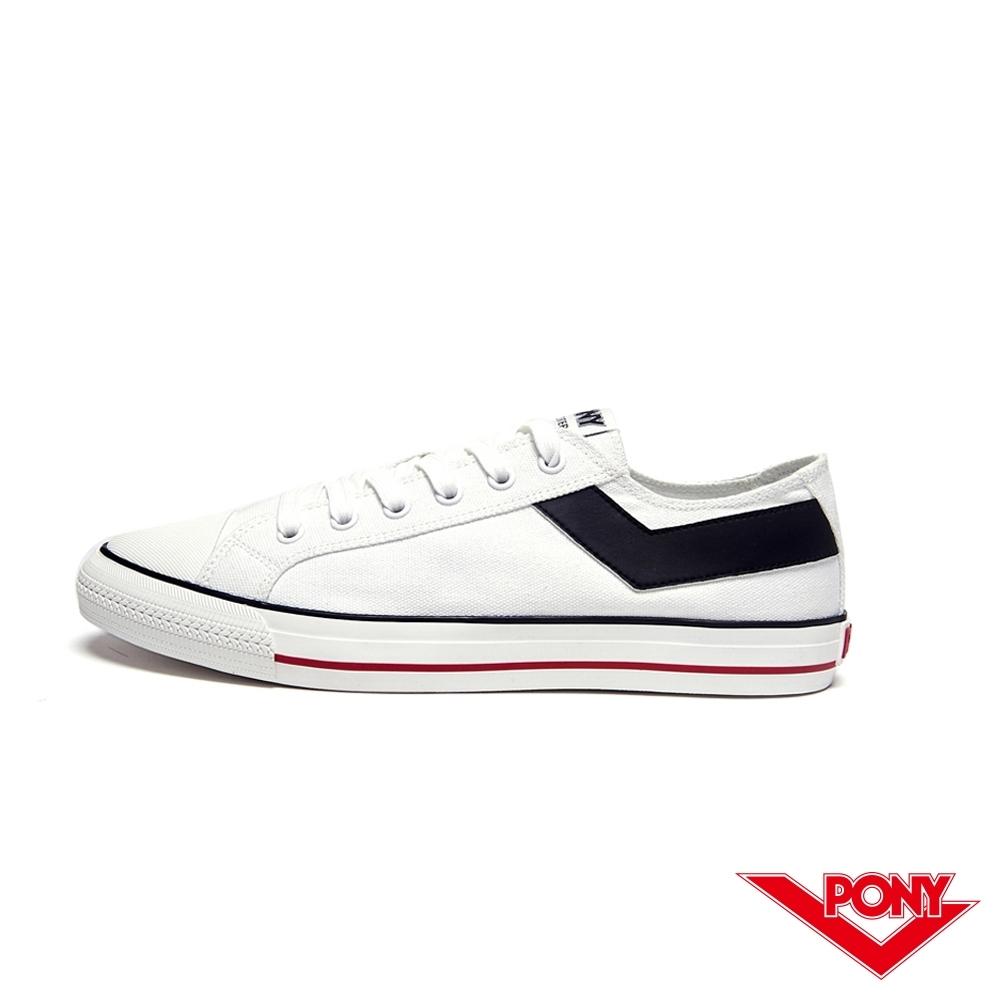 【PONY】Shooter系列經典復古帆布鞋-女-白色 陳零九著用款