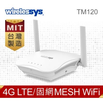 Wirelessys TM120 4G LTE AC1200 Mesh Wi-Fi 網狀無線路由器