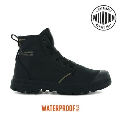 PALLADIUM PAMPA LITE+ RCYCL WP+再生纖維輕量防水靴-中性-黑