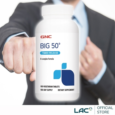【LAC利維喜】GNC健安喜 必康50食品錠100錠(高單位B群/長效型釋放/保護力)