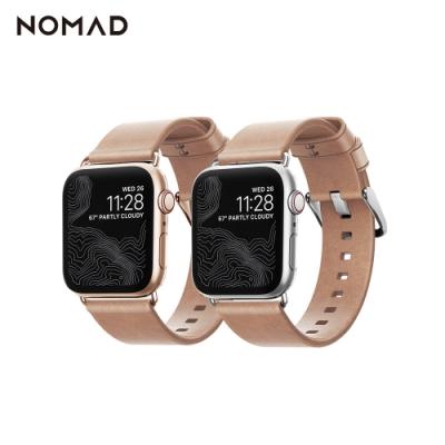 美國NOMADXHORWEEN APPLE WATCH專用自然原色皮革錶帶