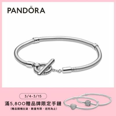 【Pandora官方直營】Moments T 字釦手鏈