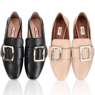 BALLY腳踩式牛皮穆勤鞋/樂福鞋